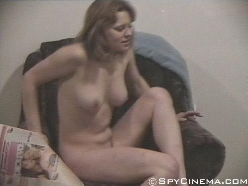 Home voyeur erotica shot of a nude girl