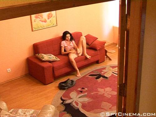 Voyeur masturbation shot of a fingering girl